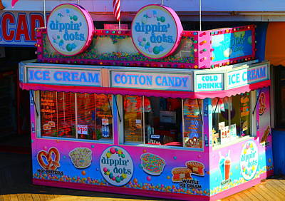 Ice Cream Stand At The Seaside Heights Boardwalk Poster by Richard Cheski