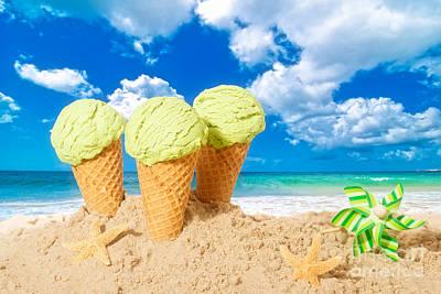 Ice Creams Poster by Amanda Elwell