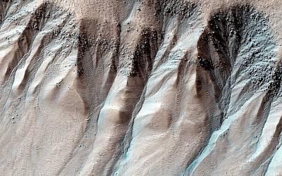 Ice-formed Gullies On Mars Poster by Nasa/jpl-caltech/university Of Arizona