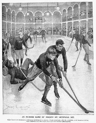 Ice Hockey, 1896 Poster