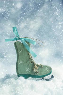 Ice Skate Decoration Poster by Amanda Elwell