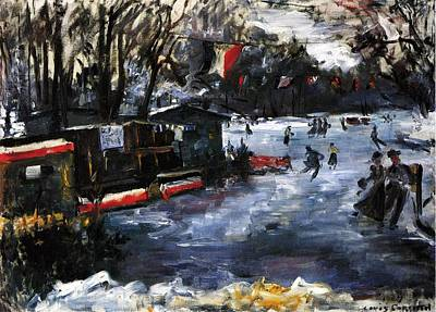 Ice Skating In Berlin Poster by Lovis Corinth