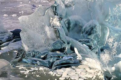 Iceberg Detail - Mendenhall Lake Poster