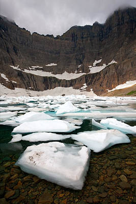 Poster featuring the photograph Iceberg Lake by Aaron Whittemore