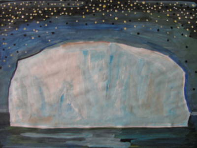Poster featuring the painting Iceberg by Vikram Singh