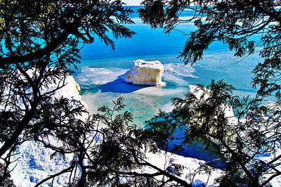 Iceberg  In Door County Wisconsin Poster by Carol Toepke