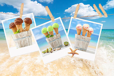Icecream Polaroids Poster