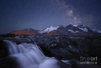 Icefields At Night Poster by Dan Jurak