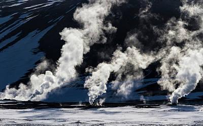 Iceland, Hverir Geothermal Steam Vents Poster by Jaynes Gallery