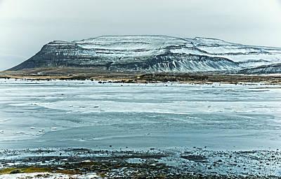 Icelandic Winter Landscape Poster by Mike Santis