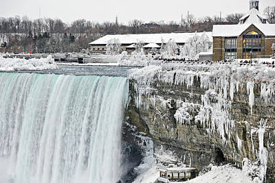 Icicles Over The Falls Poster