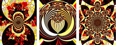 Iconic - Abstract - Triptych Poster by Barbara Griffin
