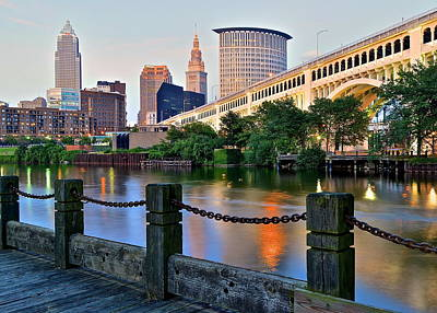 Iconic Cleveland View Poster by Frozen in Time Fine Art Photography