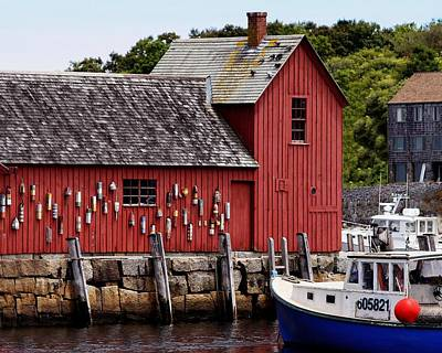 Iconic Fishing Shed  Poster by Carol Bilodeau