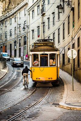 Iconic Lisbon Streetcar No. 28 II Poster