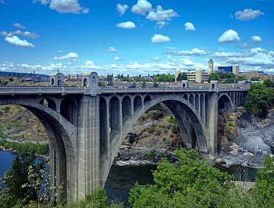 Iconic Monroe St Bridge Of Spokane Poster