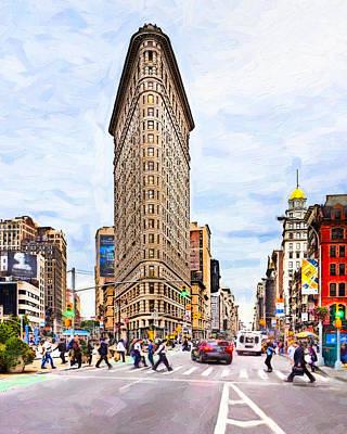 Iconic New York City Flatiron Building Poster
