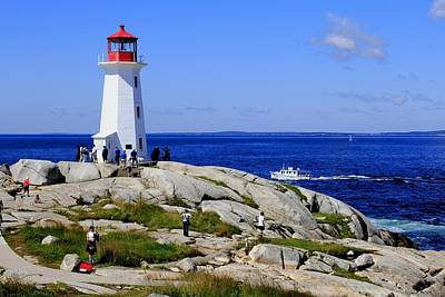 Iconic Peggy's Cove Lighthouse Nova Scotia Canada Poster