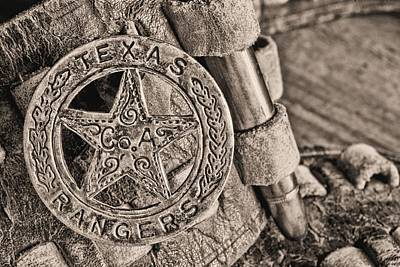 Iconic Texas Bw Poster by JC Findley