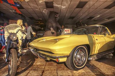 Icons Of Americana - Corvette - Elvis - Marilyn Poster by Jason Politte