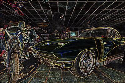 Icons Of Americana Stylized - Corvette - Elvis - Marilyn Poster by Jason Politte