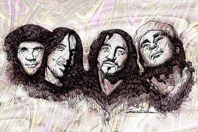 Icons - Red Hot Chili Peppers Poster by Jerrett Dornbusch