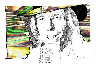 Icons - Tom Petty Poster by Jerrett Dornbusch