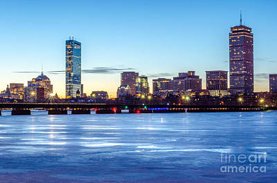 Icy Boston At Dawn Poster
