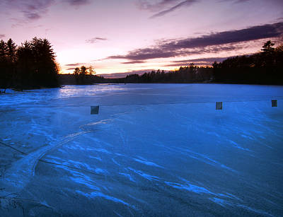 Icy Sunset Poster by Joann Vitali
