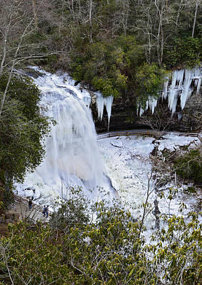 Icy Waterfall Poster by Susan Leggett