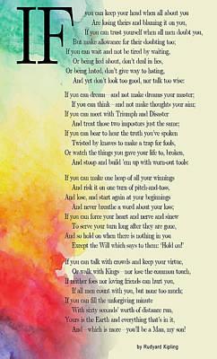 If By Rudyard Kipling Poster by Daniel Hagerman