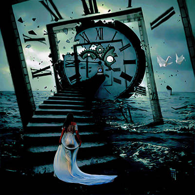 If I Could Go Back In Time Poster by  Fli Art