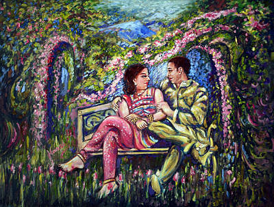 Poster featuring the painting If I Will Get Your Love by Harsh Malik