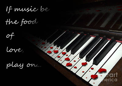 If Music Be The Food Of Love With Text Poster