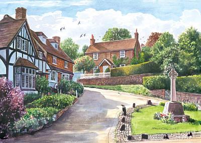 Ightam Village Poster by Steve Crisp