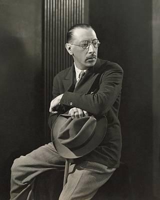 Igor Stravinsky With A Hat Poster by George Hoyningen-Huene