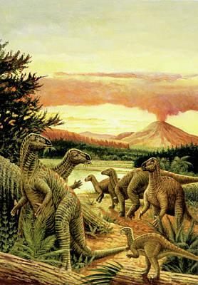 Iguanodon Dinosaurs Poster