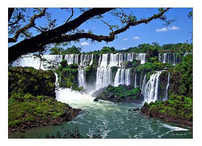 Iguazu Falls In Argentina Poster by Joan  Minchak