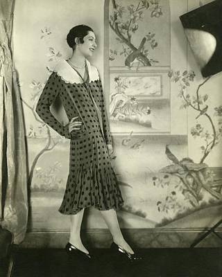 Ilka Chase Wearing A Lanvin Dress Poster by Edward Steichen