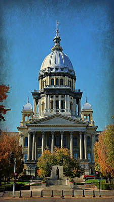Illinois State Capitol Poster by Stephen Stookey