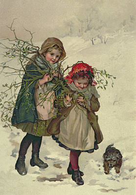 Illustration From Christmas Tree Fairy, Pub. 1886 Poster
