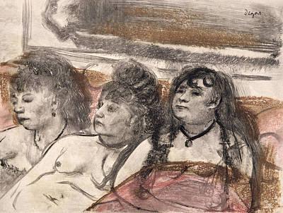 Illustration From La Maison Tellier Poster by Edgar Degas