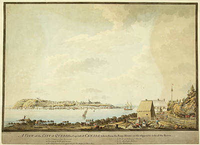 Illustration Of 18th Century Quebec Poster by British Library