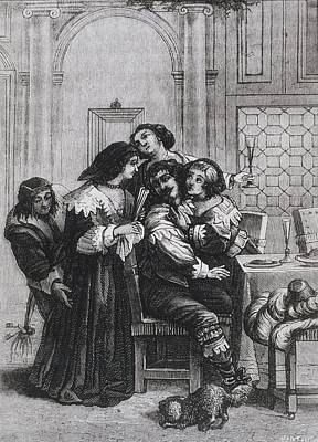 Illustration Of A Brothel During 17th Poster