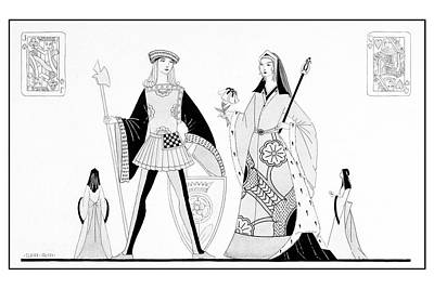 Illustration Of A Queen And Nave Poster