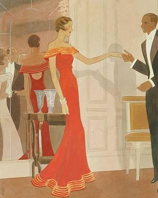 Illustration Of A Woman At A Debutante Ball Poster by Eduardo Garcia Benito