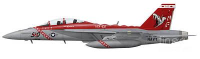 Illustration Of An Fa-18f Super Hornet Poster