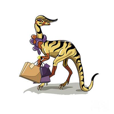 Illustration Of An Iguanodon Poster