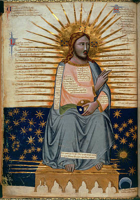 Illustration Of Christ In Heaven Poster by British Library