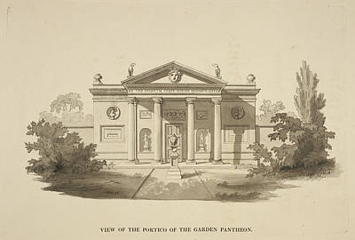 Illustration Of Classical-style Buildings Poster by British Library